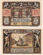 Allemagne 25 pfennig 1921 NOTGELD Eisfeld UNC Banknote-Loom Toys
