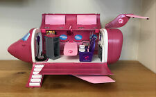 * RARE 2009 Mattel Barbie Pink Glam Vacation Jet Aeroplane With Sounds *