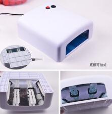Pro 36W Nail Art UV Lamp Light Dryer 4 X 9W Bulbs Salon Gel Curing 110V&220V