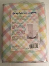 New Spring Splendor Gingham Dining Room Chair Cover Easter Pastels