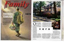 THOMAS KINKADE 2012 magazine photo print ad 2-page report hometown pride soldier