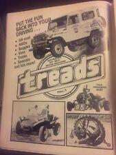 Original 1978 Treads Off Road 4WD Buggies Vans Vintage Print advertising