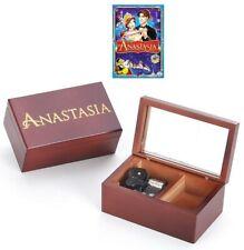 Sankyo Rectangle Wooden ( Anastasia) Engrave Music Box : Once Upon A December