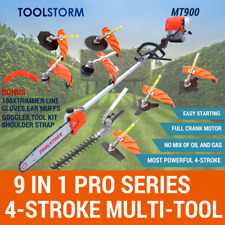 4-STROKE Pole Chainsaw Hedge Trimmer Brush Cutter Whipper Snipper Multi Tool Saw