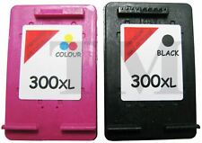 2 Cartuchos Tinta Compatible 300 XL Para HP Photosmart C4680 Negro Color Non Oem