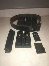 Vintage Black Leather Police /Security Duty Belt With Holsters And Accessories