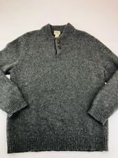 L.L. Bean Means Pullover Sweater Gray Heathered Big & Tall 100% Lambswool XL