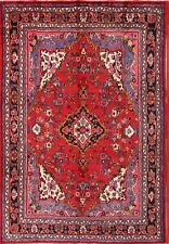 Great Deal Handmade Floral Red/Pink 7x10 Hamedan Persian Oriental Area Rug Wool