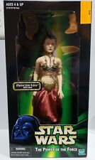 "Hasbro STAR WARS POTF Carrie Fisher Slave PRINCESS LEIA WITH CHAIN 12"" Figure"