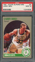 Larry Bird Boston Celtics 1991 Hoops Superstars Basketball Card #5 Graded PSA 9