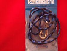 """CHASIN FIN""   FISH HOOK BRACELET- ""BRUISER"" 550 PARACORD /PEWTER HOOK"
