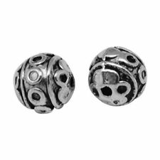 Tibetan Silver Round 8 - 8.9 mm Size Jewellery Beads