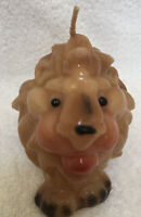 """Vtg Lion Wax Candle 5""""x 3&1/2"""" Never Used Preowned"""