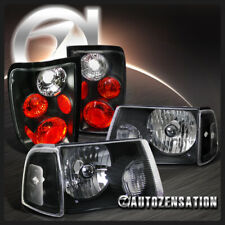 For 2001-2005 Ford Ranger Black Clear Headlights/Corner Lamps+Tail Lights Pair