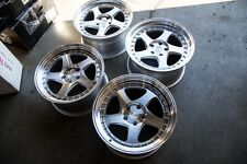 18X9.5/18x10.5 Aodhan AH01 5X114.3 +12/15 Silver Rims Fits 350Z G35 Coupe Used