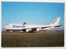 Tower Air Boeing 747-130 postcard