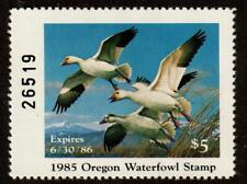 Oregon Or2 Or02 1985 Snow Geese Free shipping in the Usa!
