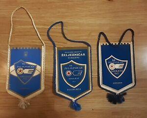 Football club FK Zeljeznicar Sarajevo Vintage Pennant 3 different Yugoslavia