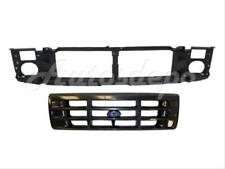 For 92-96 F150 F250LD Bronco / 92-97 F250HD F350 Front Header Panel Grille Black