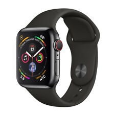 New Apple Watch 44mm Series 4 Space Black Stainless Steel Case GPS LTE MTV52LL/A