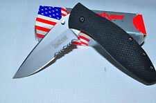KERSHAW 1570ST AVALANCHE SERRATED EDGE WITH CPM 440V STEEL   MADE IN USA  RARE!!