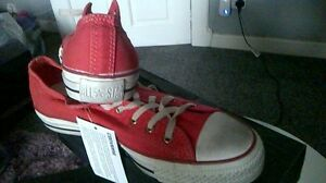 CONVERSE ALL STAR MENS WOMENS RED CT TRAINERS BNIB UK 7 EU 40