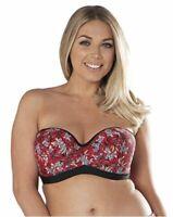 Curvy Kate Women's Maya Bandeau Bikini, red, 32G, Red, Size 32G ZXNN