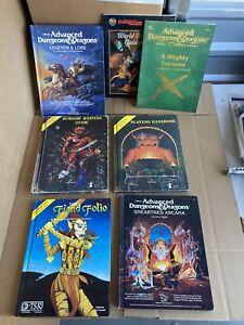 Advanced D&D - Gygax LOT OF 7 Books Handbook Masters Guide Fiend Folio