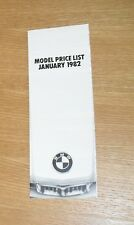 BMW Price Guide 1982 - 3 5 6 7 Series