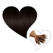 25 estensioni Nanoring marrone nero#1B 60 cm capelli veri, meglio del Microring
