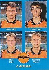 N°376  LEROY / PEDRON LAVAL LAVALLOIS VIGNETTE PANINI FOOTBALL 96 STICKER 1996