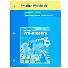 McDougal Littell Pre-Algebra: Practice Workbook, Student Edition, MCDOUGAL LITTE
