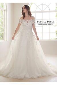 Sophia Tolli Jade french ivory wedding dress UK 14 - check measurements