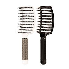 Boar Bristle Hair Brush-Curved And Vented Detangling Hair Brush For Women L T7A1