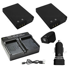 2X EN-EL12 Replacement Battery & USB Dual Charger + AC/DC for Nikon S9900 S9700