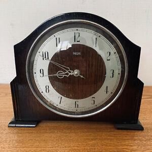"Vintage SMITHS ""30 Hour"" Art Deco Spring Driven Wooden Mantel Clock"