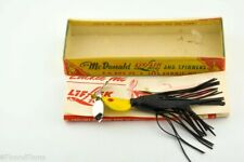 Vintage McDonald Lif Lik Minnow Antique Fishing Lure New in Box with Papers