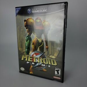 Metroid Prime (Nintendo GameCube, 2004) Tested and Works Black Label