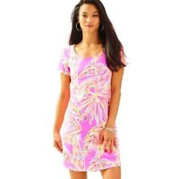 Lilly Pulitzer Tammy Dress S Amethyst Sunseekers Pink Shift Women's Cotton Scoop