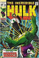 The Incredible Hulk Comic Book #123, Marvel Comics 1970 FINE/FINE+