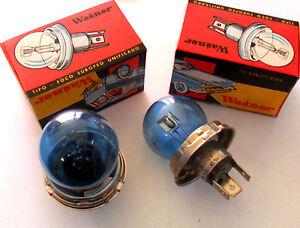 2X LAMPARA 724 w264  24V 50/50W Azul / Blue Light Bulb 2X BULBS Wagner p45t