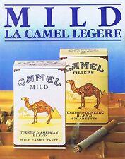 PUBLICITE ADVERTISING 114 1986 CAMEL cigarettes Filters ou Mild
