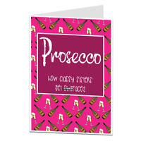 Happy Birthday Greetings Card Funny Humour Cheeky Joke Sister Prosecco Alcohol