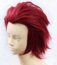 New For Cosplay K Project Suoh Mikoto Red Short 30CM Layered Men Anime Wig+ Cap