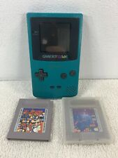 Nintendo Game Boy Color Teal Turqouise Console CGB-001 Tetris Dr Mario Read Desc