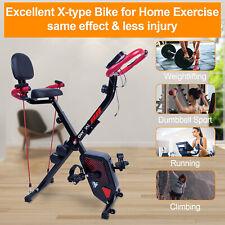 LCD Heimtrainer Fitness Fahrrad Klappbarer Hometrainer Cardio Ergometer Trimmrad