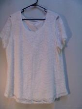 Leo and Nicole Ladies' Lace Top - Ivory size 2XL 18-20 Blouse Career Tshirt