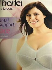 Berlei Classic Non Slip Full Cup Bra B510 White Non Wired Support 34E