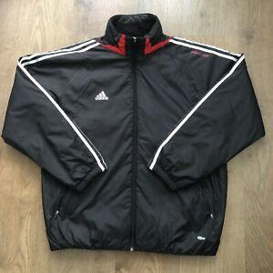 Adidas Predator Climawarm Vintage Retro Black Training Jacket 90s - Mens Medium