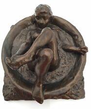 Degas Study of Woman Bathing in Round Tub Statue Figurine Nude Parastone 5.5L